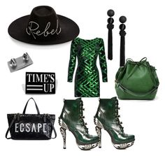 ambitious Justice by blacklotuskey on Polyvore featuring polyvore Nissa Jewelry Eugenia Kim fashion style clothing StatementwithGlamour