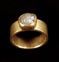 Petra Class ~ Ring ~ 22k and 18k Gold, Diamond Crystal