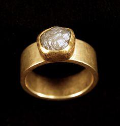 Petra Class ~ Ring ~ 22k and 18k Gold, Diamond Crystal