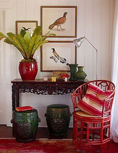 Colonial vignette, bird prints