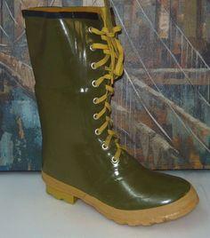 STEEL SHANK Weather Spirits Waterproof Rubber Boots Size 10