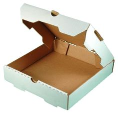 "Plain White 10"" Pizza Boxes 50/Bundle Exterior Color: White Interior Color: Kraft (brown) Bundle Quantity: 50 Height: 1.75"" Corrugated cardboard pizza box. Avai"