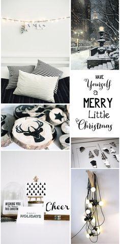 Black & White Holiday Decor, modern yet earthy!