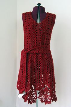 Caron Openwork Dress - roundup of 10 free crochet dress patterns for women of all styles and sizes! This one is from Doris Chan!