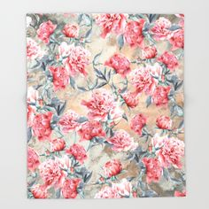 Throw Blanket #peony #floral #women #home