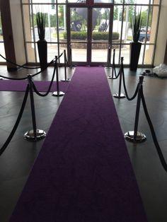 #Atlanta #rental #royal #purple #carpet #runner #VIP #stanchions #black #ropes