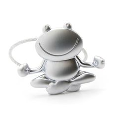 Troika Keyring with Yoga Frog OHMM 🐸 Features: - OHMM is the name of this meditating metal frog from Troika Yoga and relaxation are a great way of finding inner peace – just look at this croaking frog's serene smile! Finding Inner Peace, Metal Casting, Keys, Tea Pots, Cable, German, Wire, Wellness, Yoga