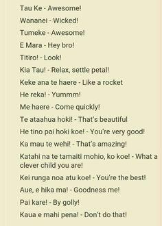 Maori Phrases for Teaching