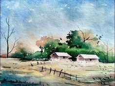 painting wet sand in watercolor - YouTube
