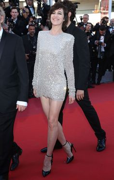Charlotte Gainsbourg wore a Saint Laurent dress at the 'Ismael's Ghosts' & Opening Gala Red Carpetat the Cannes Film Festival – May 17 2017