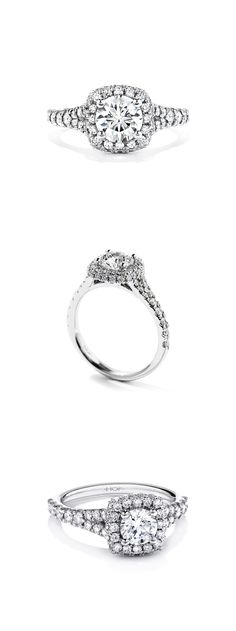 36f923b87 A diamond encrusted band and crown create the perfect center stage for our  perfectly cut Hearts On Fire diamond.