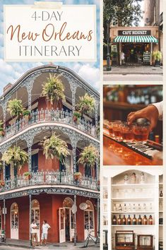 4 Day New Orleans Cultural Itinerary 4 Day New Orleans Cultural Itinerary 4 Day New Orleans Cultural Itinerary<br> From historical food tours to pharmacies to cocktails to Voodoo tours and more—here is my four-day cultural itinerary for New Orleans. New Orleans Vacation, Visit New Orleans, New Orleans Travel, New Orleans Trip, New Orleans Beach, Dream Vacations, Vacation Spots, Greece Vacation, Vacation Ideas
