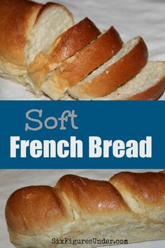 I love this homemade soft French bread.  It's ALL soft, outside and in.  The method is different than regular loaf bread, but with a photo tutorial and recipe it's easy!