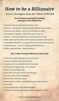 21 Power Strategies Mindsets Used by Billionaires to Create Massive Wealth