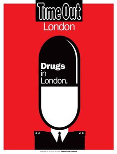 """""""Drugs in #London"""" new @Time Out London magazine cover by Noma Bar"""