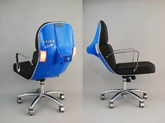 Vespa scooters get a new life as smart office chairs