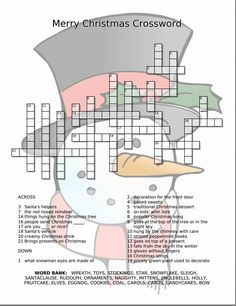 Current image for holiday puzzles printable