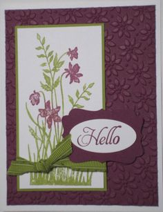 stampin up - I love to make homemade cards and crafts with rubber stamps - So much fun!!