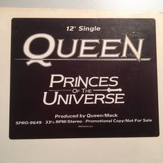 "Queen - Princes of the Universe - USA - 12"" maxi promo - stickered white sleeve"