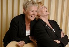 Judi Dench & Maggie Smith 2 of my favorite actors Maggie Smith, Sophia Loren, I Look To You, Judi Dench, She Girl, Ageless Beauty, British Actors, British Actresses, Famous Faces
