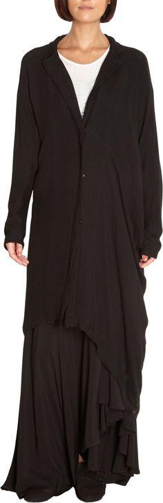 I love any head-to-toe Yoji, all black drapery.