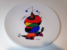 Vintage Miro Collector Art Plate  ****NO RESERVE****