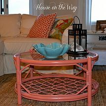 Hometalk :: After finding a bamboo and glass top coffee table at a second hand sto…