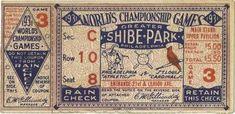 Net 54 Vintage Baseball Memorabilia Forum: vintage World Series ticket stub question
