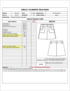 Plus Size Grade Sheet Template  Automatically Calculate Size