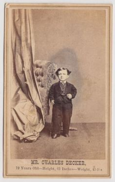 P-T-Barnum-Circus-Performer-CDV-Mr-Charles-Decker-Smallest-Man-in-the-World