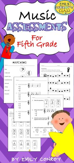 This set includes 10 assessments for 5th grade music students and one cumulative assessment to use as a pre or post-assessment!
