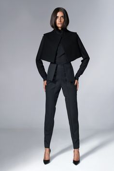 Cropped Waistcoat with Fur Panel | Serafin Andrzejak