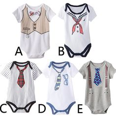 3pcs/lot is only $17.52 2016Lovely Gentleman Baby Boy Clothes White Newborn wedding Clothes Baby Rompers Short Sleeve Overalls Next Baby Body Jumpsuit summer
