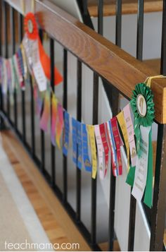 what to do with swim ribbons -- celebrate your children's successes all year long!