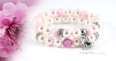 pasztell-romantika-nemesacel-swarovski-kristaly-karkoto-szet Pandora Charms, Swarovski, Wedding Rings, Charmed, Engagement Rings, Bracelets, Pink, Jewelry, Elegant
