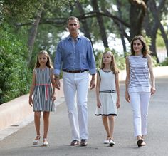 The Spanish Royal Family held the annual summer photo session at the Marivent Palace in Palma de Mallorca Aug 2016