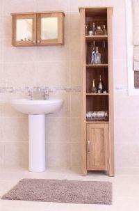 mobel oak open bathroom unit tall is a superb contemporary tall oak bathroom cabinet designed