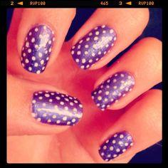 #PurpleNails #DotsNails