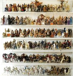 This amazing auction includes a huge lot of different loose action figures collected over decades--starting with the vintage line in representing over of the figures documented in the new book Star Wars: The Ultimate Action Figure Collection. Best Action Figures, Gamers Anime, Action Figure Display, Star Wars Toys, Star Wars Collection, Displaying Collections, Vintage Toys, Beautiful Day, The Incredibles