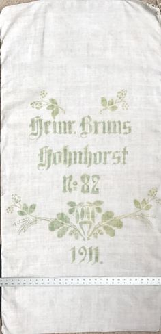 Original Historic German Grain Flour Sack Batch 37 Print Color RARE Light Yet