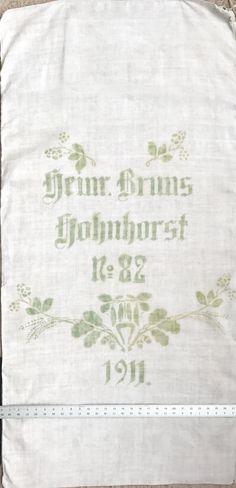Original Historic German Grain Flour Sack Batch 37 Print Color RARE Light Yet