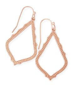 KENDRA SCOTT Sophia Earrings in Rose Gold