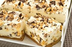 Greek Sweets, Greek Desserts, Indian Dessert Recipes, Desert Recipes, Condensed Milk Desserts, No Bake Slices, Mousse, Digestive Biscuits, Sweets Cake