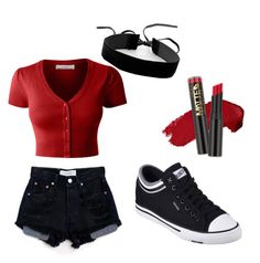 """Burning Fire"" by mdomo on Polyvore featuring LE3NO, Levi's, Skechers and Simons"