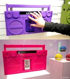 The iHome Bluetooth Boombox http://pinterest.com/nfordzho/iphone-accessories-collection/