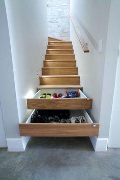 Практичные идеи для лестницы в доме лестница, дом, дизайн, полки, длиннопост