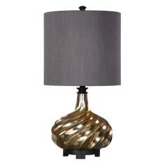 Cotati Metallic Antique Gold One Light Table Lamp Uttermost Accent Lamp Table Lamps Lamps