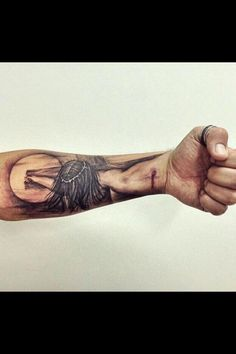 Jesus On The Cross Forearm Tattoo Christian tattoos on pinterest jesus ... #tattoosmen'ssleeves