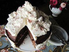 Cream Chocolate Birthday Cake ~ Tickled Red