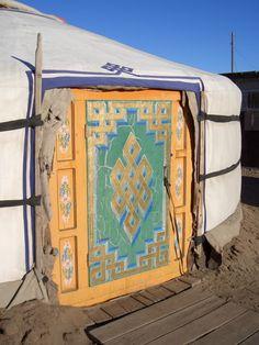 Mongolian Yurt...love this door!